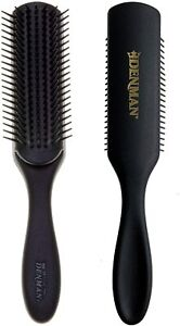 DENMAN ORIGINAL STYLER 7 ROW HAIR BRUSH ALL BLACK D3