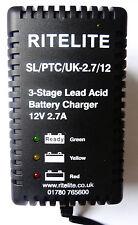 AC12025- 12v 2.7Amp Lead Acid Battery Charger for 12v 10Ah batteries upwards