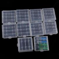 10pcs Hard Plastic Battery Case Cover Box Holder Storage for 4x AA  AAA Battery
