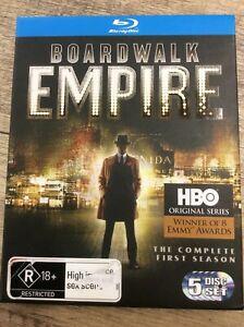 Boardwalk Empire : Season 1 - 5 Disc Blu Ray Set - Great Cond - FREE POST