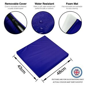 Outdoor Cushions Rattan Garden Chair Seat Cushion Pads Replacement Pads - BLUE