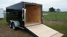 6x12 Enclosed Cargo Trailer IN STOCK Tandem Motorcycle Utility  CALL NOW !