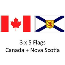 CANADA + NOVA SCOTIA 3ft X 5ft bandera/bandera 2 PK de alta calidad de 100% Poliéster