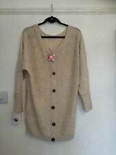 CAPE DAISY CREAM WOOL CARDIGAN SIZE S BRAND NEW WITH TAGS