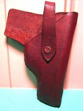Rare 1930's  GANGSTER STYLE Hide-Away Leather PISTOL GUN Holster MAKE OFFER