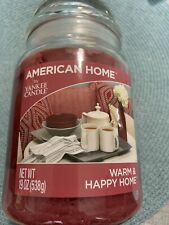1 American Home By Yankee Candle 19 Oz Warm & Happy Home 1 Wick Glass Jar Candle
