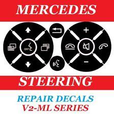 2014 Mercedes Benz Button Repair Decals Steering Wheel Button Repair Set