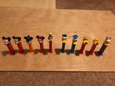 Pez Lot of 10 Disney Mickey~Donald~Duck~Daisy~ Goofy~Pluto
