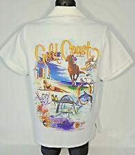 Vintage Gold Coast Australia Button Up Shirt - Huge Ugly Beautiful Scenery Print