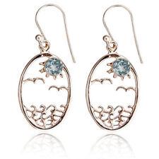 Gioielli di lusso ovale in argento con zircone