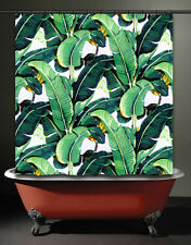 Brazilliance Banana Leaf Shower Curtain Tropical Jungle Martinique Green Palm