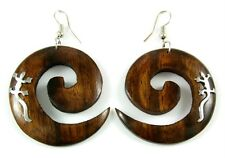 STUNNING SONO WOOD & GECKO earrings: EA286