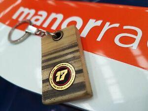 Genuine Race Used Jules Bianchi Manor Marussia F1 Monaco Skid plank keyring.