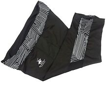 BEVERLY HILLS POLO CLUB Women's Yoga Sports Pants Size L Cropped Black Striped