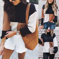 Women Winter Warm Sweater Winter Warm Knitted Sweater Jumper Pullover Top Blouse