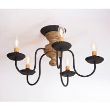 Thorndale Semi-Flush Mount Wood Ceiling Light in Pearwood