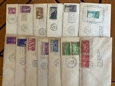 US First Day Covers, set of 13, 1934-1939