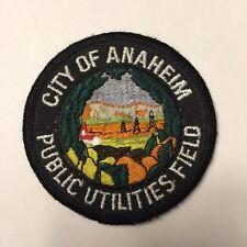 City of Anaheim Public Utilities Field Patch