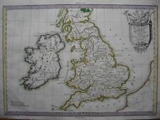 1787 - De PRETOT - Map BRITANNIA  ROMAN BRITISH ISLES