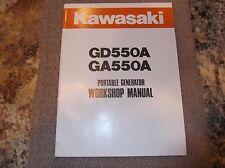 KAWASAKI GD550A GA55A GENERATOR SERVICE MANUAL