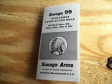 SAVAGE MODEL 99 CENTERFIRE LEVER ACTION RIFLE SMALL FOLDED OWNER'S MANUAL