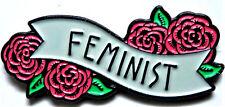 FEMINIST FLOWER BANNER PIN ENAMEL BADGE BROOCH PIN WEDDING PARTY JEWELRY