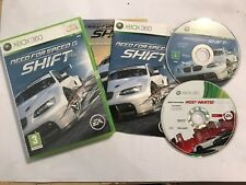 2 x XBOX 360 NEED FOR SPEED RACING/COURSE JEUX N4S SHIFT complet + Most Wanted