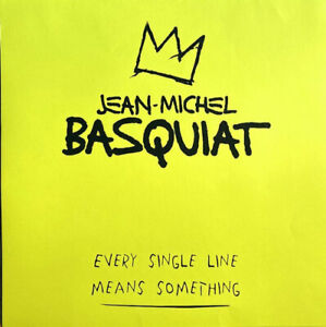 Jean-Michel Basquiat  cartella d'arte 2 litografie firmate a mano 56x56