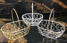 Mini Oval Wire Basket With Handle Ideal for Valentine's Day Weddings Favours