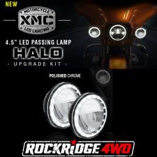 Vision X XMC 4.5″ LED PASSING LAMP HALO UPGRADE KIT *Chrome Pair* Motorcycle