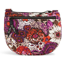 """NWT Vera Bradley Lizzy in Rosewood 9"""" W x 7"""" H with 58"""" adjustable strap"""