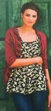 KNITTING PATTERN Ladies Frill Edging Cardigan 3/4 Sleeves Lace Malabrigo PATTERN