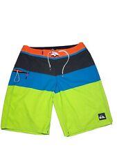 Quicksilver Board Surf Short Men's 32 Lime Green Blue Black and Orange RN 114199