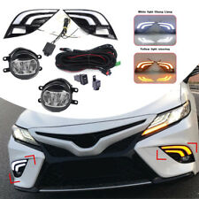 LED DRL Turn Signal Lamp Fog Light Wiring Kit Refit For Toyota Camry SE XSE 2018