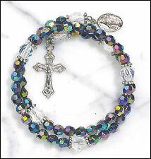 Purple Wrap Style Rosary Bracelet NEW SKU ND035