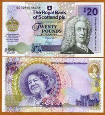 Scotland Royal Bank, 20 pounds, 2000, P-361, Queen Mother Commemorative, UNC
