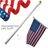 3x5 Flag Pole Gold Ball Kit US USA 5 ft Sectional Aluminum flagpole US American
