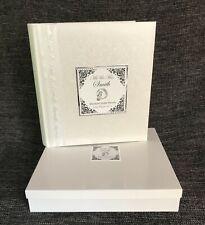 Large Traditional Wedding Photograph Album + presentation box Personalised #10