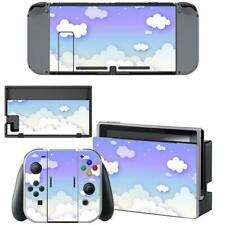 Purple Blue Cloudy Sky Nintendo Switch Joy-Con Dock Console Vinyl Skins Decals