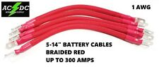 # 1 Awg HD RED Golf Cart Battery Cables BRAIDED 5 Pcs 83/Up Club Car U.S.A MADE