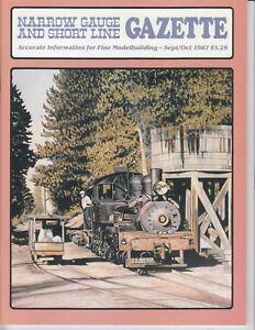 NARROW GAUGE & SHORT LINE GAZETTE 9-10/87 WEST SIDE LUMBER, ROGUE RIVER VALLEY