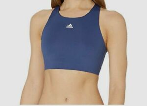 $291 Adidas Women's Blue Solid Racerback Ultimate Alpha Sport Bra Size Large