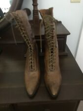 New listing Vintage Victorian High-Lace Ladies Leather Boots, Nice Condition