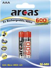 2 X AAA Akku 1,2V 600mAh MICRO NI-MH ARCAS für T-Sinus 314 AB Telefon