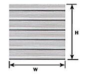 Plastruct estireno PS-16 (91512), 2 X o escala X 175 Mm x 300 mm hojas de Techo Acanalada T