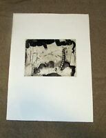 Mid Century Modern Abstract German Expressionist Etching Print Pencil Signed