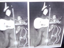 2 photo postcards Elvis Presley on Stage, the King of Rock and Roll 1957