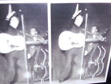 2 vintage photo postcards Elvis Presley, King of Rock and Roll on stage