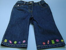 Brand New Gymboree Candy Shoppe Embroidered Hem  Jeans Girl's Sz 3-6M