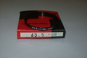 VINTAGE BOWER 43.5 - 46MM STEP UP FILTER RING WITH BOX MADE IN JAPAN -FREE SHIP